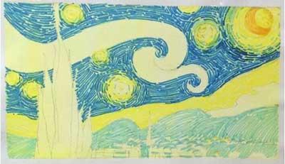 用马克笔画出星空